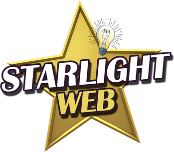 A logo for starlight web who is a web design company based in Worcester